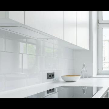 LINEA GLASS beépíthető páraelszívó  fehér panellal 90 cm