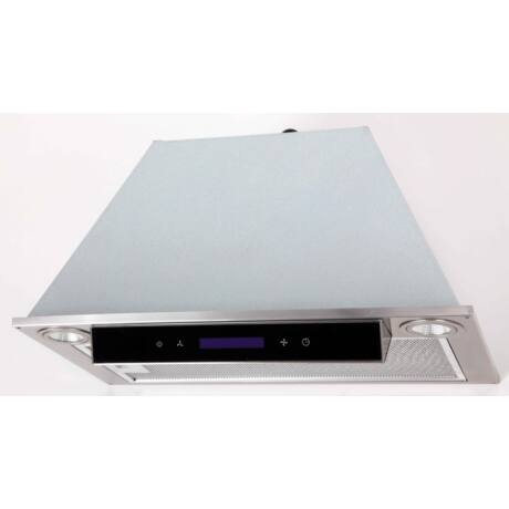 LINEA OK-6 beépíthető páraelszívó // inox, fekete panellal // 60 cm
